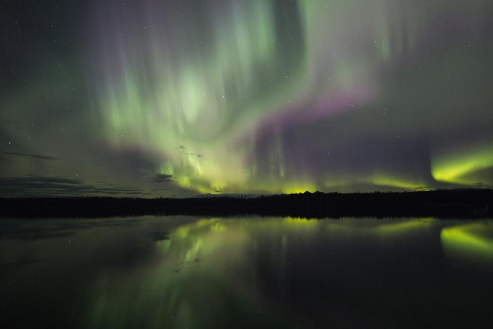 Northern Lights over Glacier Bay